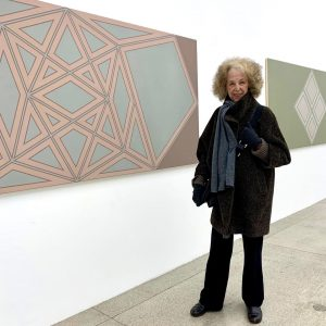 Scenes from Tess Jaray's visit to her critically acclaimed solo exhibition at Vienna ...