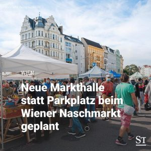 Wer stadtauswärts über den Wiener Naschmarkt bummelt, soll künftig bei der U4-Station Kettenbrückengasse ...