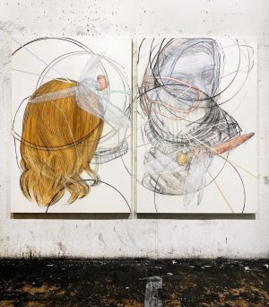 ( #newwork #studioview ) BYPASS - charcoal / acrylic on canvas, 2021 - 160 x 220 cm...
