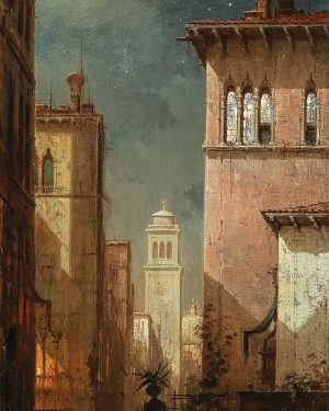'Venice, A Canal in the Moonlight', Ludwig Mecklenburg. #Venice is a place of ...