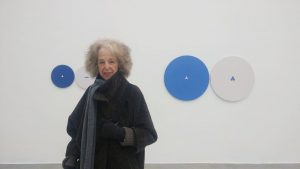 Today would be the last day of the exhibition of Tess Jaray. Unfortunately ...