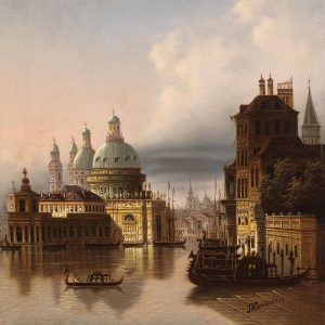 'Capriccio, Venice', Johann Wilhelm Jankowsky. Oil painting is multifaceted and offers artists a ...