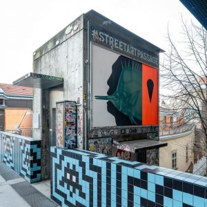#Q21Backstage in May: Street Art Passage At the passage leading to Spittelberg, a ...