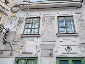 Windows on the curious combination of a house in the Josefstadt suburb from ...