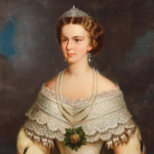 'Empress Elisabeth of Austria', attributed to Franz Schrotzberg. This #portrait of the young ...
