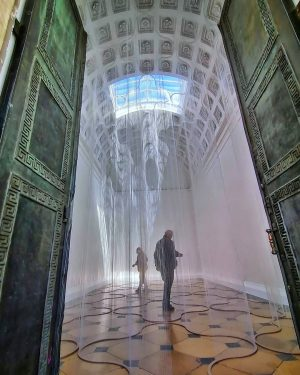 This year's exhibition in the Theseus Temple is by Susanna Fritscher. It consists of a labyrinth like...