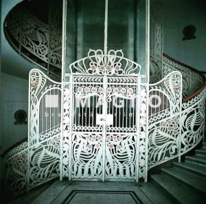 Art Nouveau style - Otto Wagner - Hallway and Entrance Majolica House Vienna ...