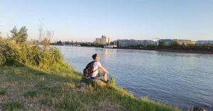 Kurze pause 😈😎 Neue Donau