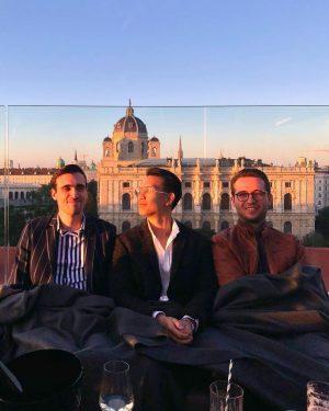 sundowner with the boys #vienna Leopold Museum