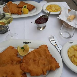 The real deal in Vienna #schnitzel #wienerschnitzel #austria #authentic #vienna #food #veal #foodtour