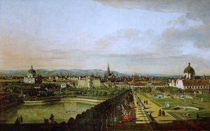 Wien Memories. View from Vienna from the Belvedere (1758/1761). Bernardo Bellotto, Il Canaletto (1721-1780). #wien #vienna #viena...