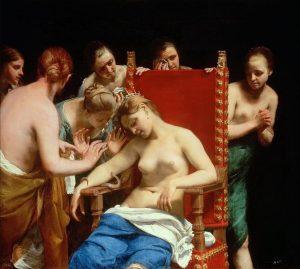 Wien Memories. The Death of Cleopatra (1659). Guido Cagnacci (1601-1663). #wien #vienna #viena #kunsthistorischesmuseumwien #gemäldegalerie #thedeathofcleopatra #1659...