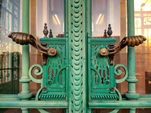 The big wrought iron entrance door by Royal & Imperial Decorative Ironworks Anton ...