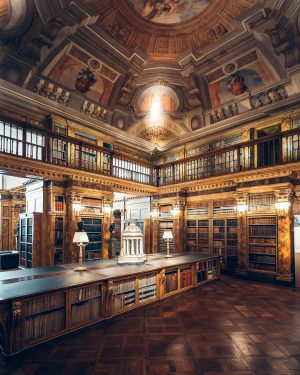 The library at the Liechtenstein GARDEN PALACE offers approximately 100 000 books from all walks of knowledge...