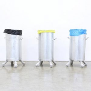 Trash the patriarchy! 🗑 Toni Schmale's sculptures made of steel and concrete scrutinize ...