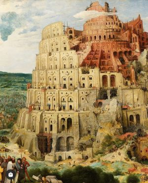 Treasure: 👉 The Tower of Babel - 1563 Artist: 🇳🇱 Pieter #bruegel Where:📍#Vienna ...