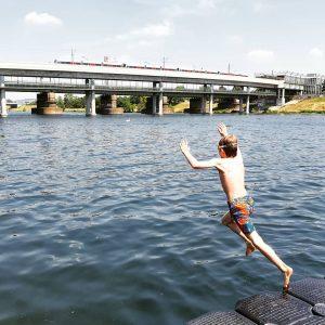 #summerinthecity #itshot #wienerlinien #u6 #futuretransportminister Donauinsel