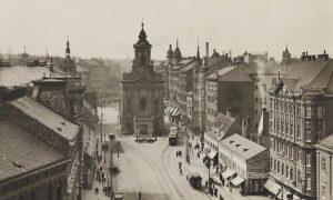 Wien V. Matzleinsdorfer Kirche. Wiedner Hauptstraße. Ansichtskarte um 1925. Wien Museum.