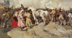 Have a wonderful start into the week! Alessio Issupoff's (1889-1957) #artwork 'Market day' will be offered for...