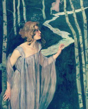 INSPIRATION BEETHOVEN Eine Symphonie in Bildern aus Wien 1900. JOSEF MARIA AUCHENTALLER - Elfe am Bach, 1898-99...