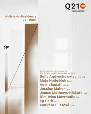 Very warm welcome to this month's Artists-in-Residence in the @mqwien: Writers-in-Residence Sofia Andruchowytsch & @marketapilatova and visual...