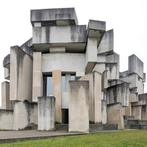 #FritzWotruba - The Church of the Most Holy Trinity in Vienna, which was built from 1974 to...