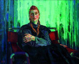 """""""Das Bild ist etwas Anderes, es hat eine eigene Identität."""" Elfriede Jelinek, porträtiert von Xenia Hausner: Ein..."""