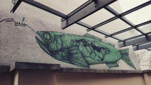 --- * artist: @r_u_i_n_ * spot: 7., Museumsquartier #hungry #fish #fishofinstagram #fishermensfriend #mural ...