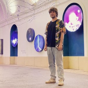 Dimitrios Mavroudis, currently in Vienna as Q21 Artist in Residence, working for his show in Sternenpassage in...