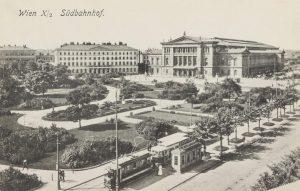 Wien X. Südbahnhof. Ansichtskarte 1913. Wien Museum.