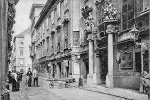 (1908/Gerlach & Wiedling/Wikipedia) Das Alte Rathaus in der Wipplingerstraße 8. Nach mehrmaligen Umbauten präsentiert sich heute das...