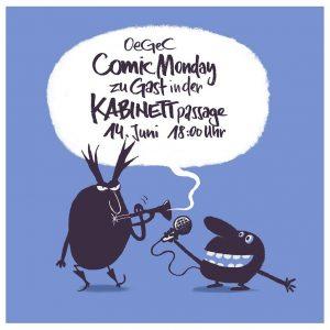 Das KABINETT im Gespräch mit der Österreichischen Gesellschaft für Comicforschung und -Vermittlung in der KABINETTpassage am 14....