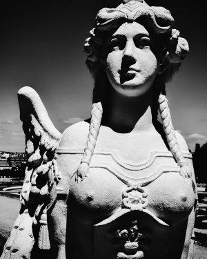 Sphinx in the garden of Belvedere Museum ° ° ° ° ° #vienna ...