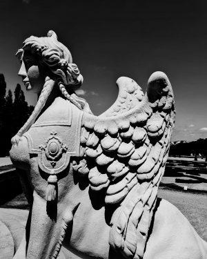 Sphinx in the garden of Belvedere Museum of Belvedere ° ° ° ° ...
