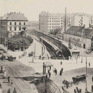 Im Jahr 1906 fuhr auf dieser Strecke noch die Wiener Verbindungsbahn. Seit 1971 ...