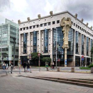 Austria 🇦🇹 1040 Wien - Wieden Treitlstraße/Wiedner Hauptstraße Technische Universität Wien Hauptbibliothek Justus Dahinden, Reinhard Gieselmann, Alexander...