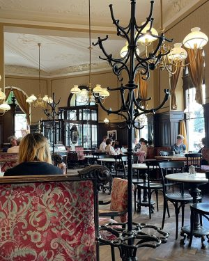 Viennese coffee house @cafesperl where time stands still ☕️🗞 Café Sperl