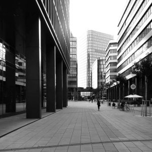 Erste Campus #Wien #Vienna #austria #skyscrapers #skylinephotography #cityscapes #cityscape #cityskyline #monochrome #monochromephotography #bwphotography #bw_photooftheday #bwphoto #bw_lover #bw_perfect...