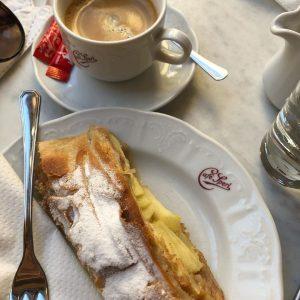 さすがウィーン 本番のアップルシュトルードル 美味しい 次回はもっとゆっくり来よう! Café Sperl