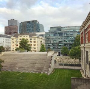 Wien Mitte seen from the @mak_vienna - a rather unusual view of our city, but kind of...