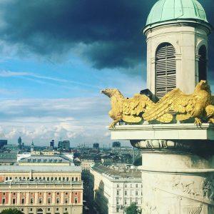 Dernière visite à Vienne 🇦🇹 Superbe vue sur la ville impériale depuis le dôme 🤩 #touthommeadanssoncoeurunlionquidort #newromance...