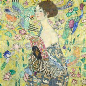 Habt ihr sie schon besucht? Gustav Klimts 'Dame mit Fächer' ist noch bis Februar im Belvedere zu...