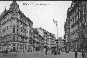 (1920/Kartensammlung ÖNB/wien.gv.at) Porzellangasse, benannt (1825) nach der staatlichen Porzellanmanufaktur (1744-1864; von Nummer 51 ...