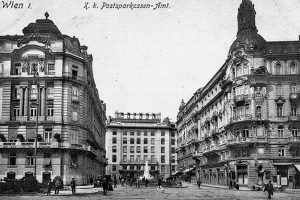 (1910 und 2018/ÖNB/Wikipedia) Wiener Postsparkasse Das achtgeschoßige Gebäude der österreichischen Postsparkasse war bis 2017 die Zentrale der...
