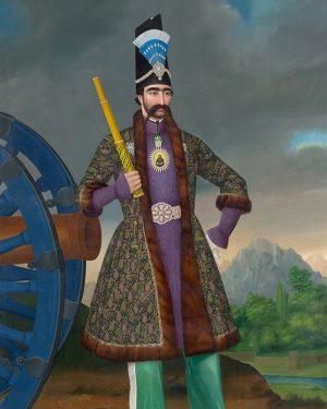 Wer ist dieser junge Herrscher und Meister der Diplomatie? Selbstbewusst posiert der junge Schah von Persien, Nāser...