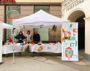 Die Kulturvermittlung gemeinsam mit Volontär*innen gestern beim Josefstädter Straßenfest. Vielen Dank für die Organisation! 🌾🌿 Am Stand...