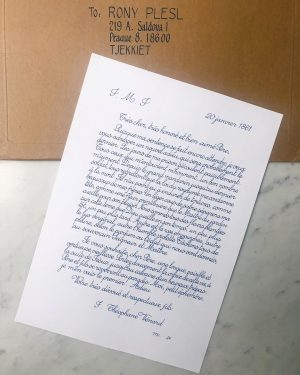 What an unusual letter - the artistic concept by my favourite Vietnamese artist ...