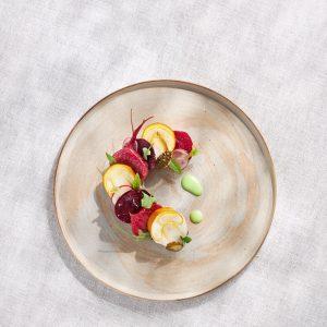 Caesar's mushroom with tubers, hibiscus & pine cones #inspired by nature #foodofaustria #nährediezukunft ...
