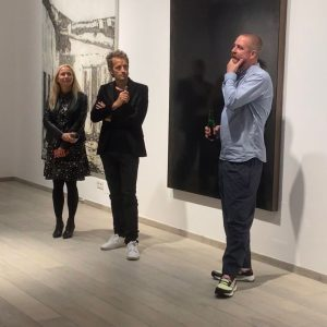 The first part of the opening of our exhibition of @clemenswolf in our ...